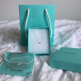 Tiffany & Co Diamond By The Yard Necklace By Elsa Peretti .05 Carats