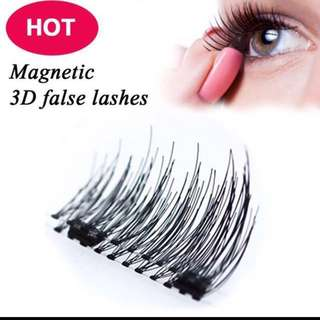 Latest Premium 3D Reusuable Double Magnetic Fake Lashes
