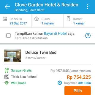 voucher hotel clove bdg weekend