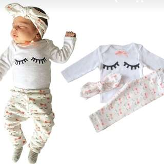 3 piece baby girl set