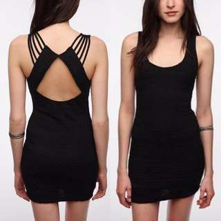 Sparkle & Fade black bodycon dress (m)