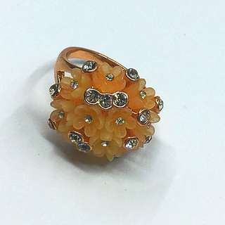 Rose Gold Plated Rings with Crystal