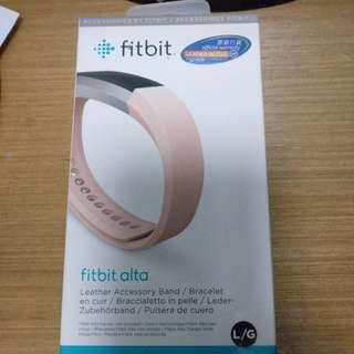 Fitbit Alta皮革腕帶 (粉紅色)
