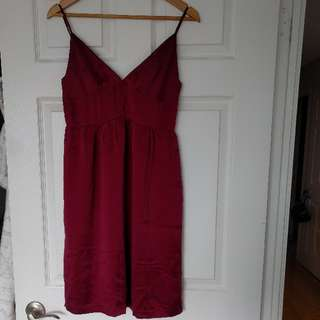 Silk red/maroon dress (size 7/8) Jacob connexion