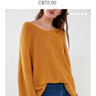 BDG Harper Knit Sweater (Mustard)