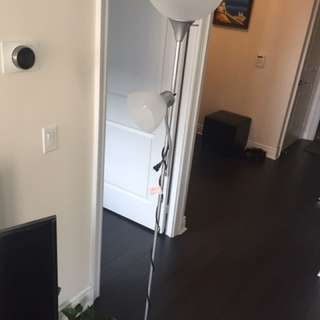 Ikea floor lamp with a reading light