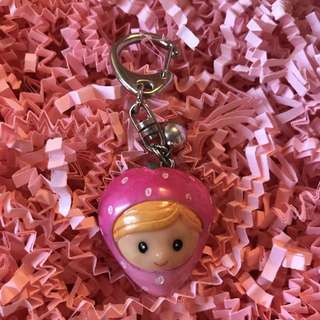 Strawberry Girl Keychain Charm
