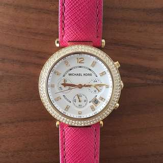 Limited edition pink leather Michael Kors watch
