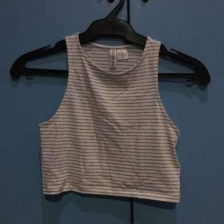 H&M Sleeveless Stripe Crop Top