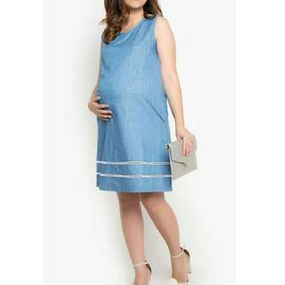 Chambray Maternity And Nursing Dress