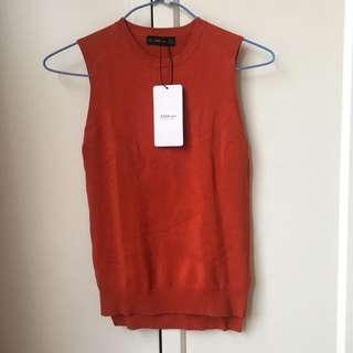 ZARA KNIT Sleeveless Knit Jumper /vest - Size S