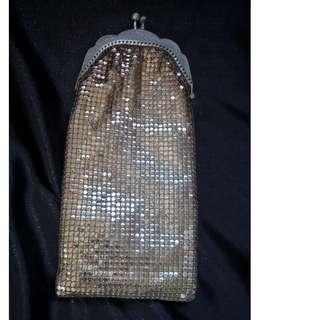 Gold mesh purse/glasses case