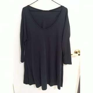 Casual Three Quarter Sleeve Supre Shirt Dress