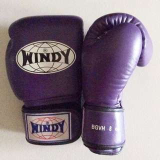 Purple WINDY Boxing Gloves 8oz