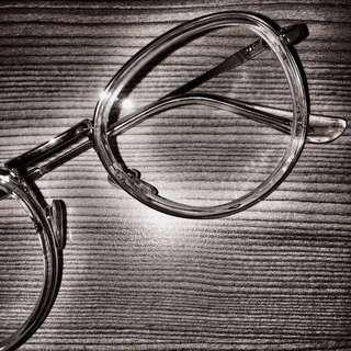 復古 透明金屬框眼鏡