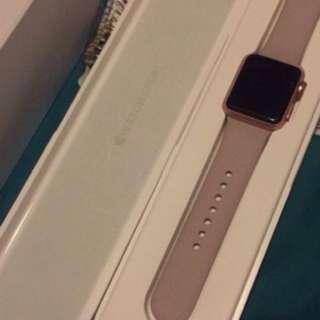 Rose gold aluminium Apple Watch 38mm