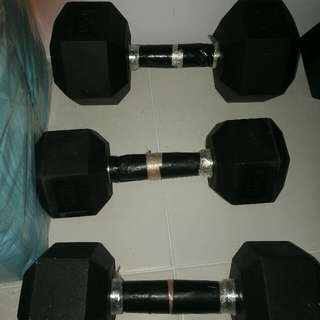 Hex dumbell 16 kg one pair