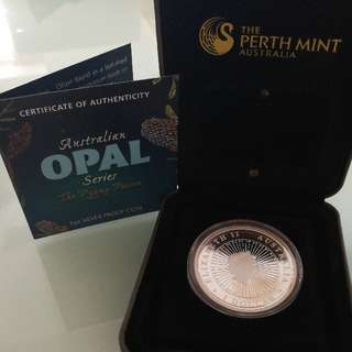 1 Oz Silver Proof Coin - Australian Opal Series