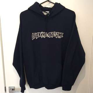 Rare embroidered Fucking Awesome Hood Navy