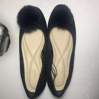 Flat shoes Dark blue