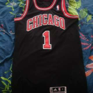 Adidas authentic Derrick Rose Chicago Rev30 jersey All sewn