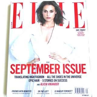 U.S. Edition ELLE The September Issue 500+ Pages! / ELLE September 2017 Magazine