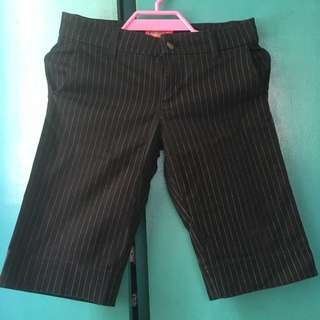 Dickies's 3/4 stripe crop-pants, size 1