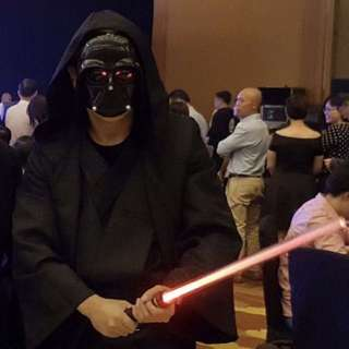 Starwars Darth Vader costume- good for D&D! Throw in free Darth Vader mask and light saber!