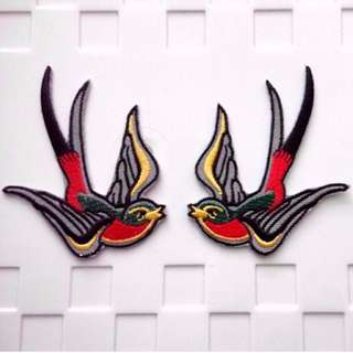 Tattoo Swallow Love Birds Iron On Patch