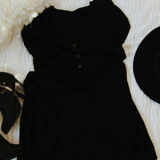 Black Tunic Dress from Glassons