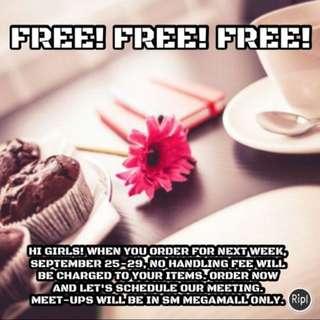 Free Handling Fee