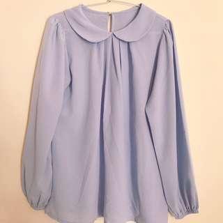 blouse chiffon violet