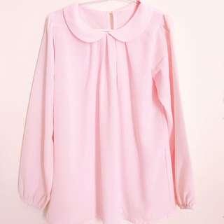 pink chiffon blouse