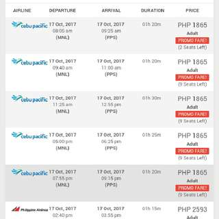 Plane Tickets to Palawan Travel Airline