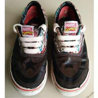 Vans Marvel Comics Capt. America Kids Skateboard Shoe