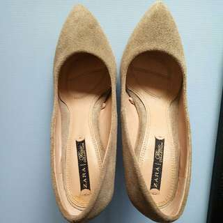 降!ZARA麂皮楔形鞋  (36)