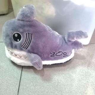 冬季超暖鯊魚拖鞋