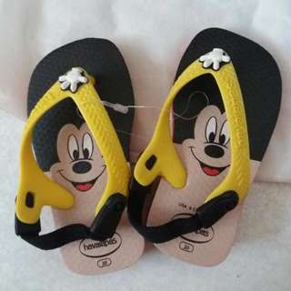 Havaianas Baby Mickey Mouse unisex for toddlers Size 20 (US 6c)
