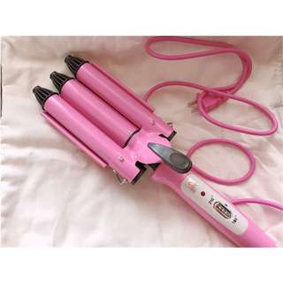 Mermaid curl hair iron