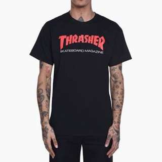Classic tees thrasher outline black
