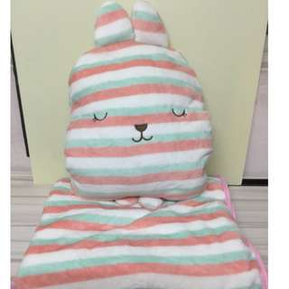 Bunny Pillow and Blanket warmer set