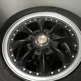 Rim & Tyre 14 inch for Kenari Kelisa 8 hole