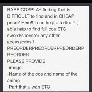 Help u find cosplay