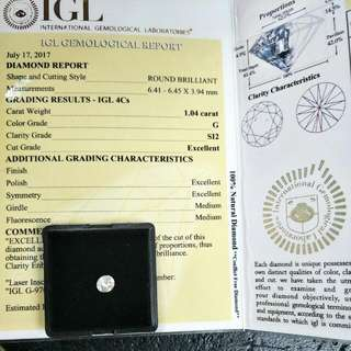 natural diamond with certificate