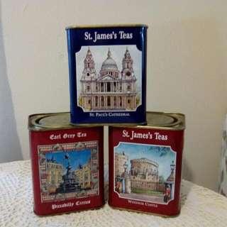 St James Teas Empty Tin Box