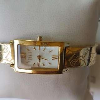Jam Tangan Gold Elle