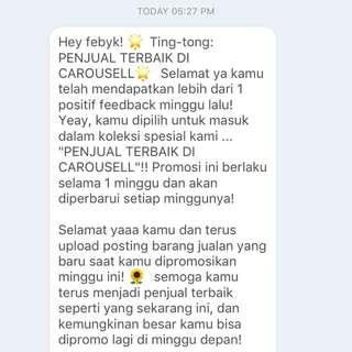 Thank youu Carousell!! 🙌🏼