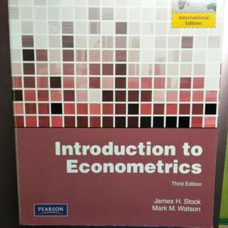 Introduction to Econoometrics