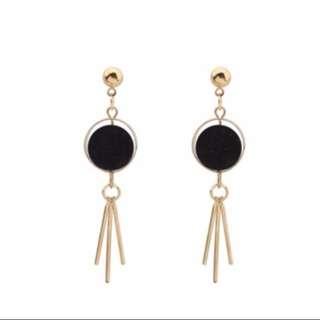 Black Fuzzy Earrings