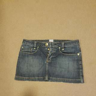 sass & bide mini denim skirt size 28 (used)